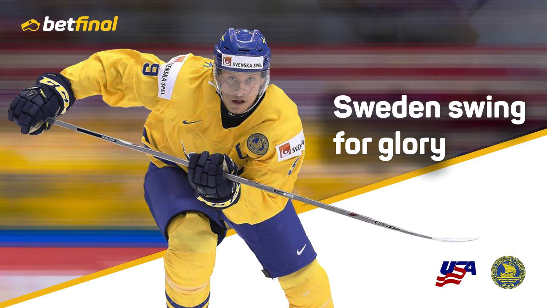 USA – Sweden – 2018 IIHF World Championship 4-20 May. Herning, Denmark.