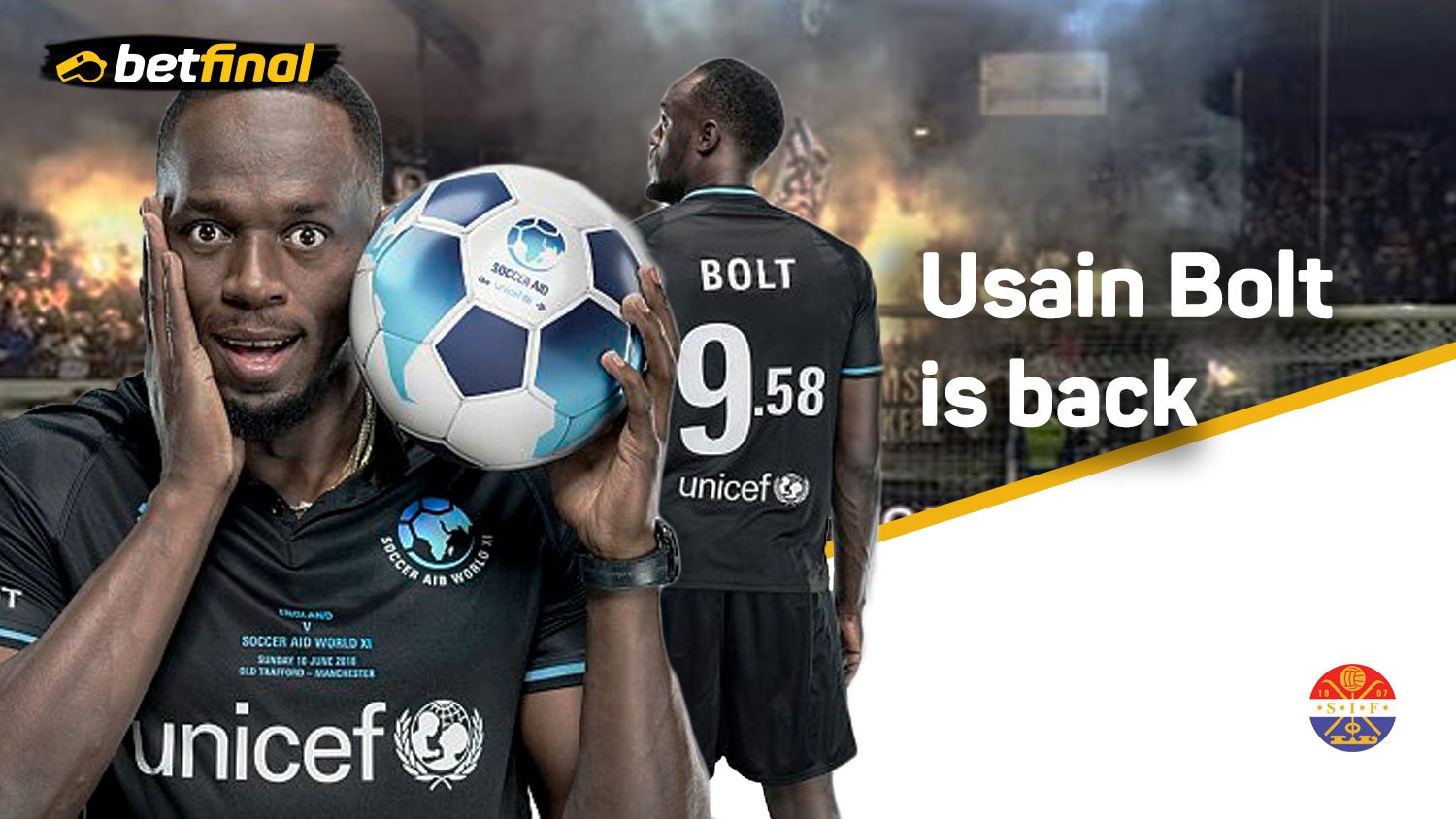 Bolt is back – Usain Bolt Returns. Strømsgodset Vs Norway U19s. Marienlyst Stadion Tuesday, June 5.