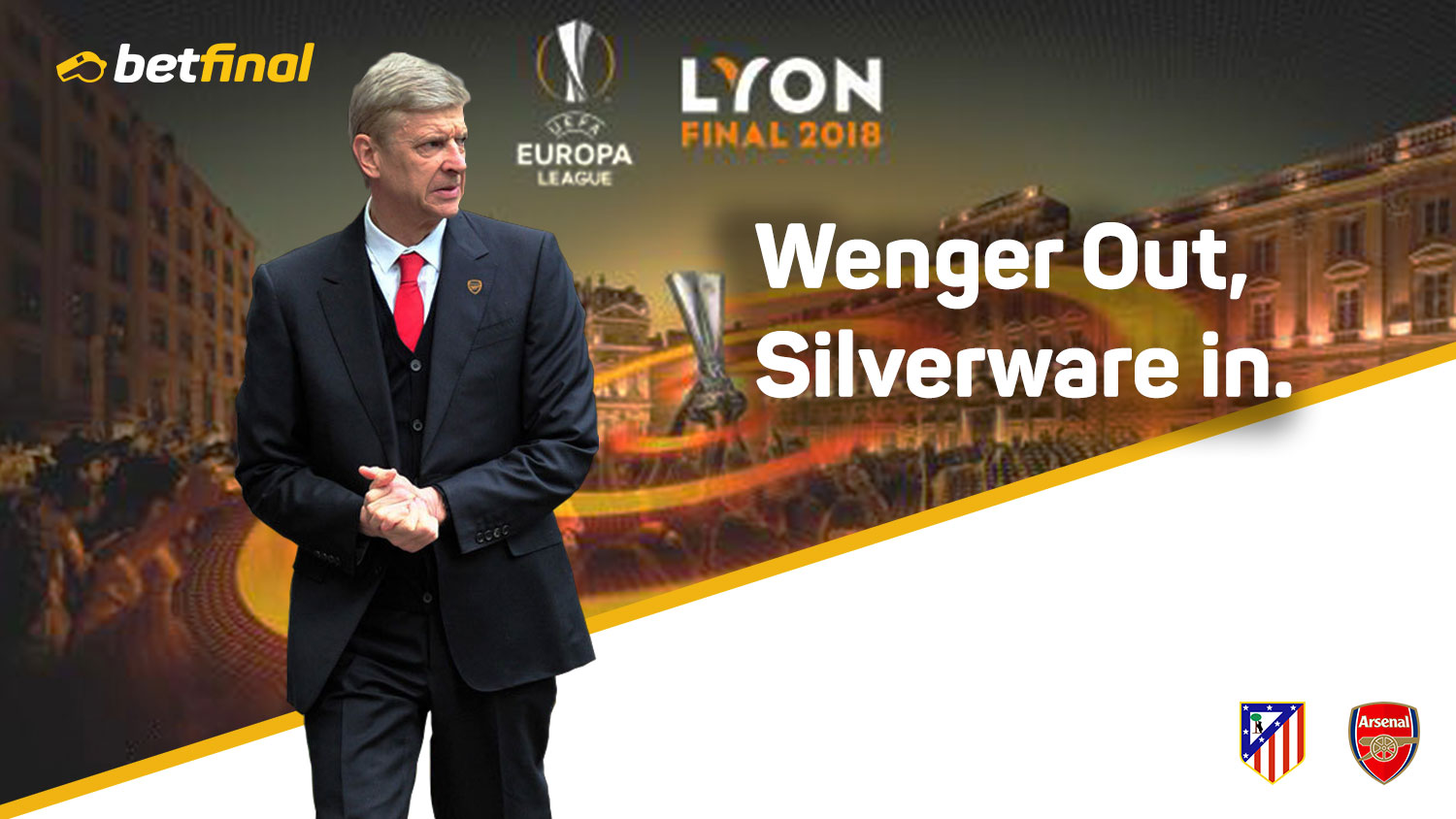 Atletico Madrid (1) Vs Arsenal (1),Thursday 3rd May,  UEFA Europe League – Wenger Out, Silverware in.
